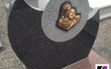 Grabstein aus Polen mit Ornament